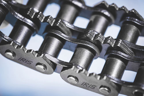 Roller chains with sharp to plates